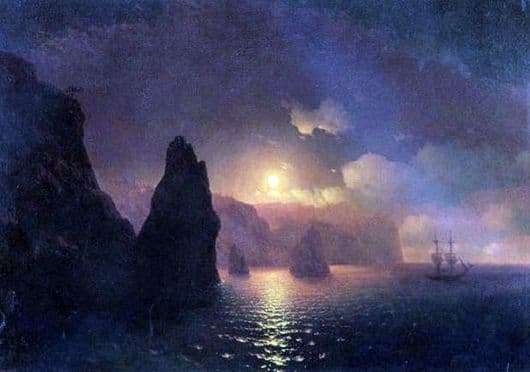 Description of the painting by Ivan Konstantinovich Aivazovsky St. George Monastery