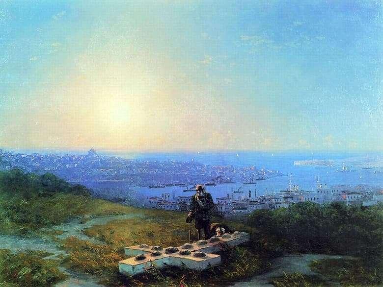 Description of the painting by Ivan Aivazovsky Malakhov Kurgan