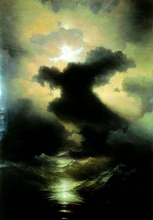 Description of the painting by Ivan Aivazovsky Chaos. World creation