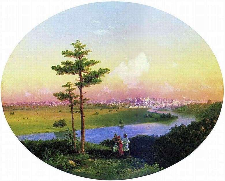 Description of the painting by Ivan Aivazovsky View of Moscow from the Sparrow Hills