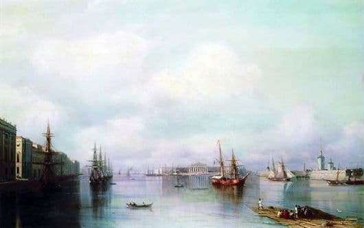 Description of the painting by Ivan Aivazovsky View of St. Petersburg