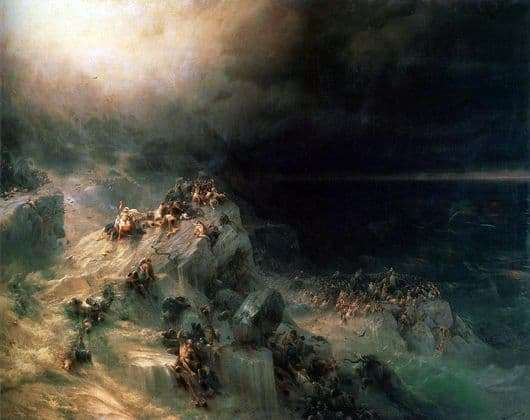 Description of the painting by Ivan Aivazovsky Flood