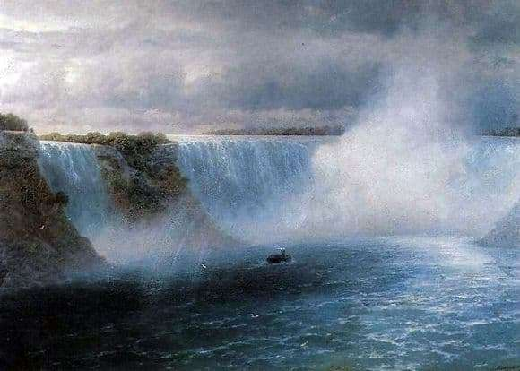 Description of the painting by Ivan Aivazovsky Niagara Falls