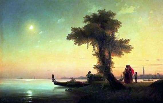 Description of the painting by Ivan Aivazovsky View of the Venice Lagoon
