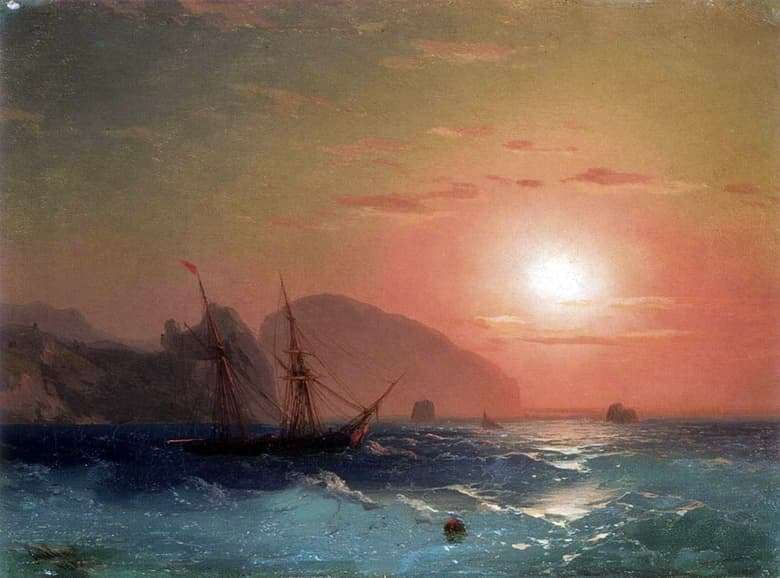 Description of the painting by Ivan Aivazovsky View of Ayu Dag