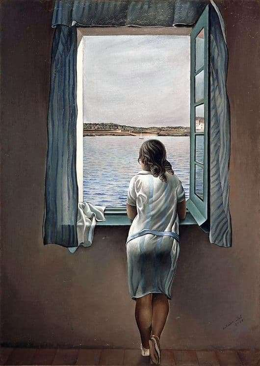 Description of the painting by Salvador Dali Woman at the window