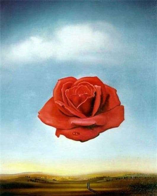 Description of the painting by Salvador Dali Flower (Meditative Rose)