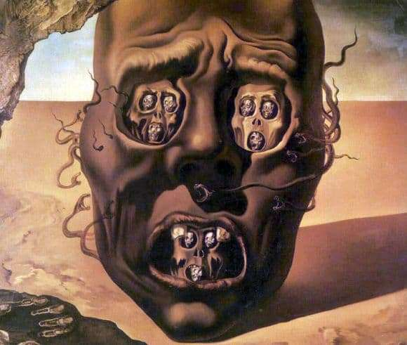 Description of the painting by Salvador Dali Face of War