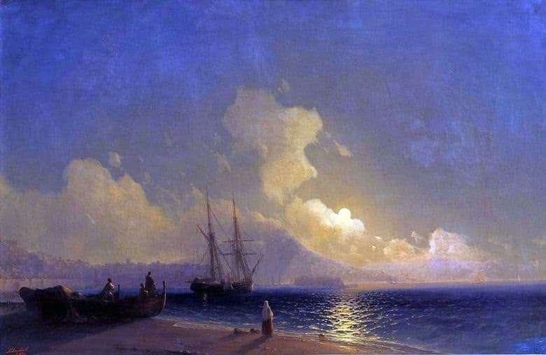 Description of the painting by Ivan Aivazovsky Night at Sea