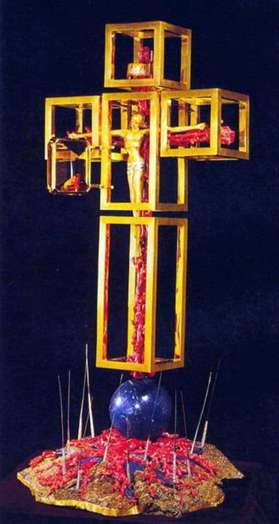 Installation of Salvador Dali Angel Cross