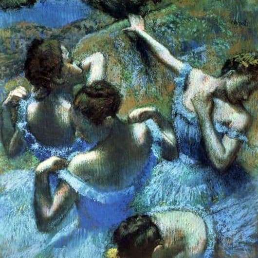 Description of the painting by Edgar Degas Blue Dancers