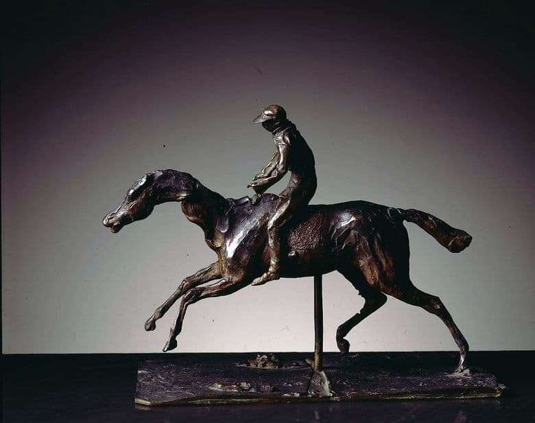 Description of the sculpture of Edgar Degas Horse and Rider