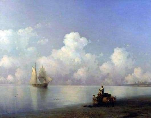 Description of the painting by Ivan Aivazovsky Evening at Sea