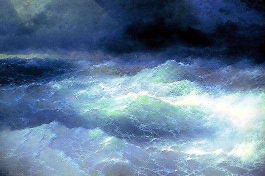 Description of the painting by Ivan Aivazovsky Wave