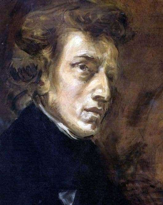 Description of the painting by Eugene Delacroix Chopin
