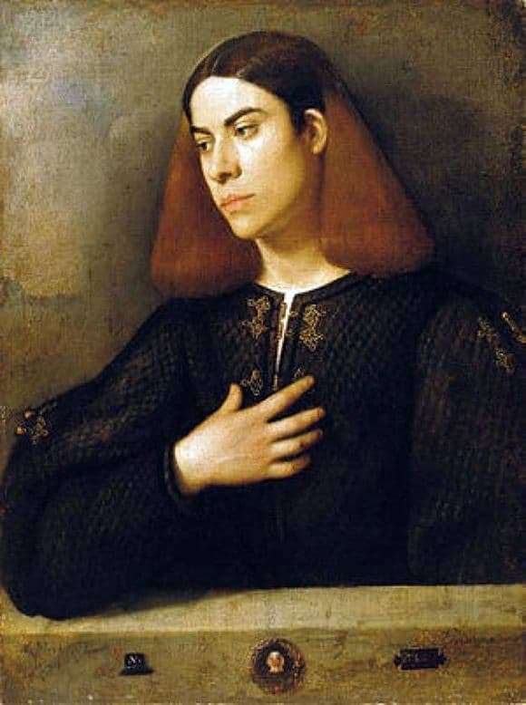 Description of the painting by Giorgione Portrait of a Young Man