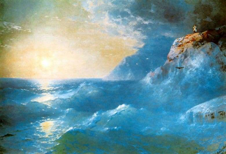 Description of the painting by Ivan Aivazovsky Napoleon on St. Helena