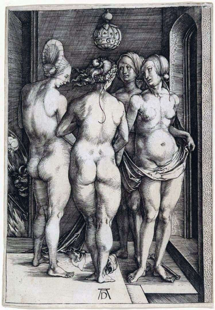 Description of the painting by Albrecht Durer Four Witches