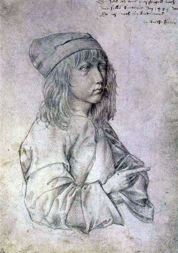 Description of the painting by Albrecht Durer Self portrait in 13 years
