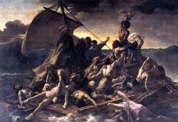 Description of the painting by Theodore Gericault The Raft of Medusa