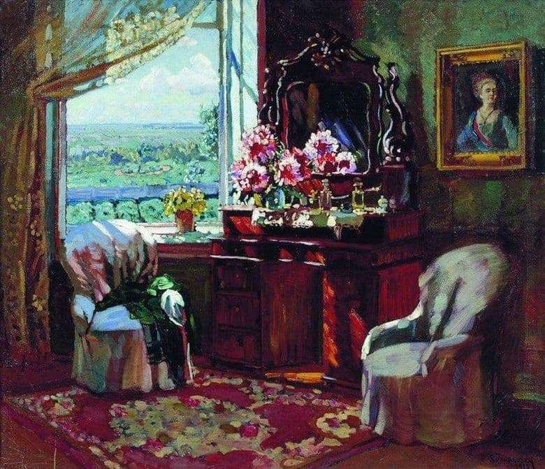 Description of the painting by Vladimir Zhukovsky Interior room