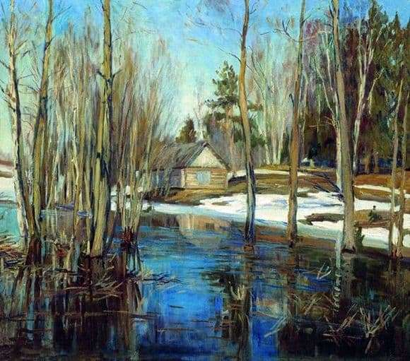 Description of the painting by Stanislav Zhukovsky Spring