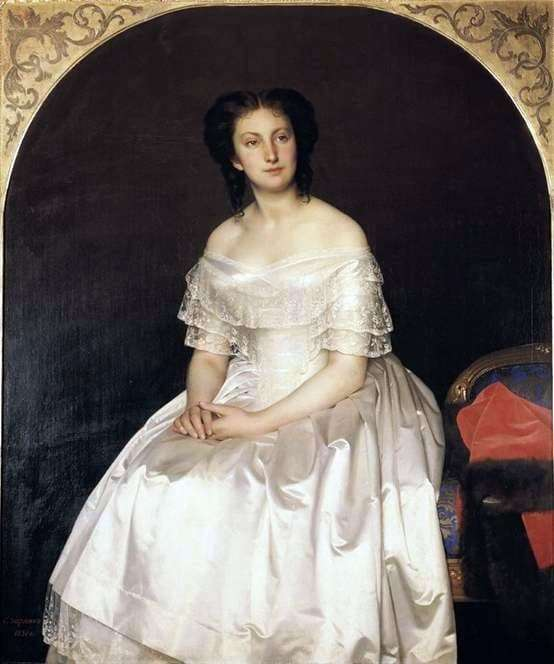 Description of the painting by Sergey Zaryanko Portrait of Vorontsova