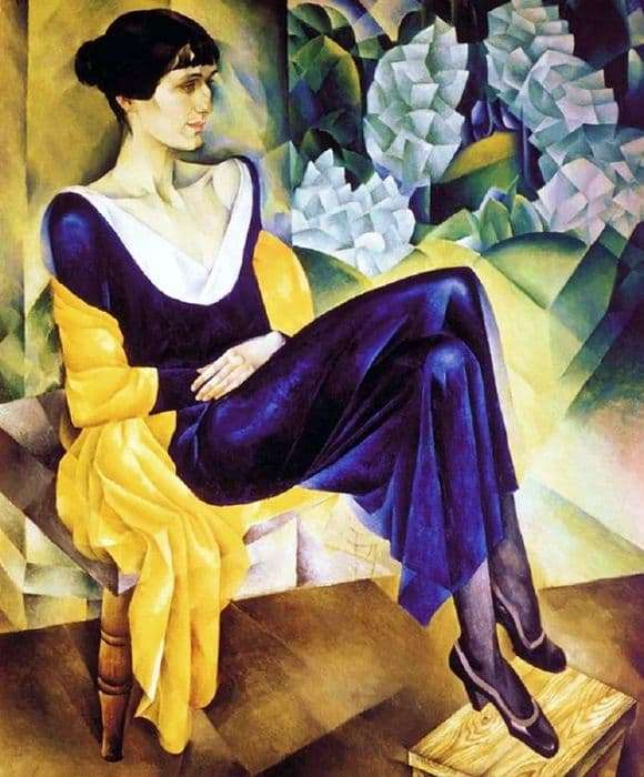 Description of the painting by Nathan Altman Anna Akhmatova
