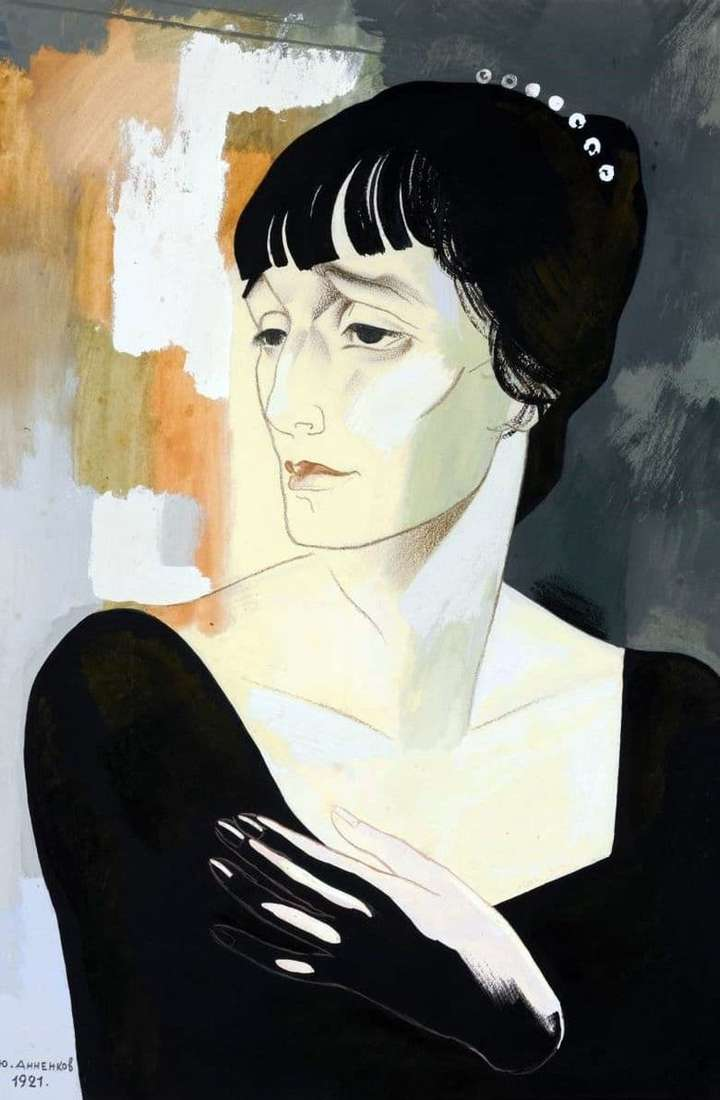 Description of the painting by Yuri Annenkov Portrait of Akhmatova