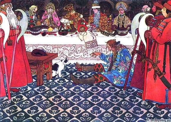 Description of the illustration by Ivan Bilibin A Feast at Prince Guidon