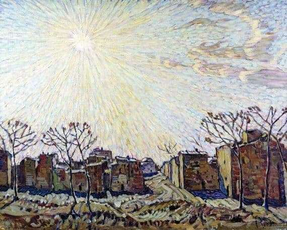 Description of the painting by Konstantin Bogayevsky The Sun