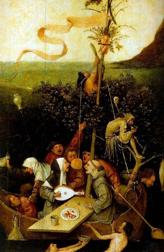 Description of the painting by Hieronymus Bosch Ship of Fools