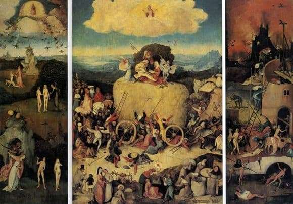 Description of the painting by Hieronymus Bosch Haystack