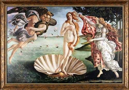 Description of the painting by Sandro Botticelli The Birth of Venus