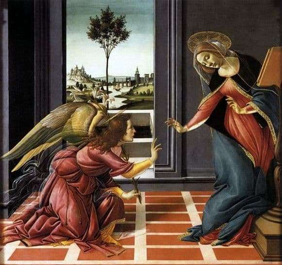 Description of the painting by Sandro Botticelli Annunciation