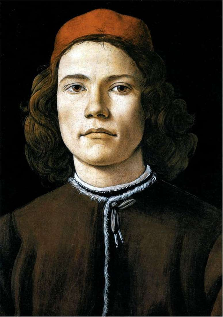 Description of the painting by Sandro Botticelli Portrait of a young man