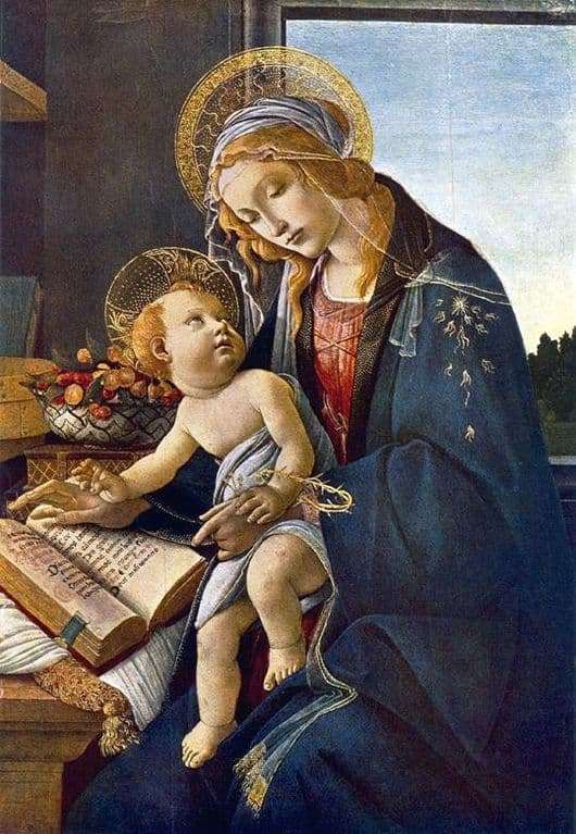 Description of the painting by Sandro Botticelli Madonna with a book