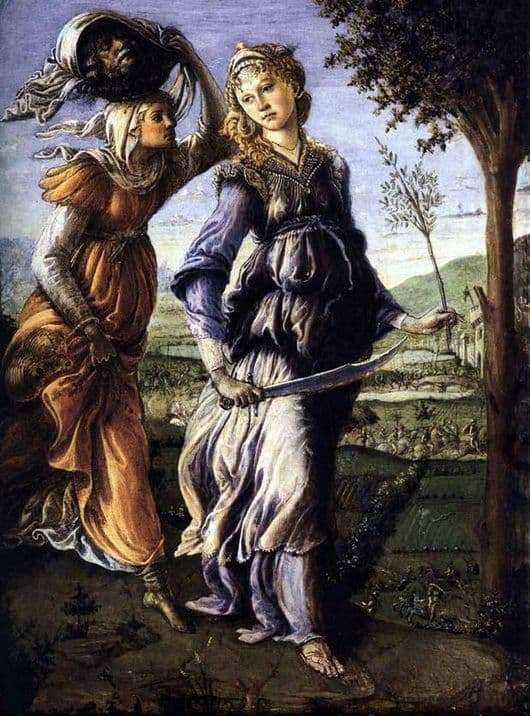Description of the painting by Sandro Botticelli Return of Judith