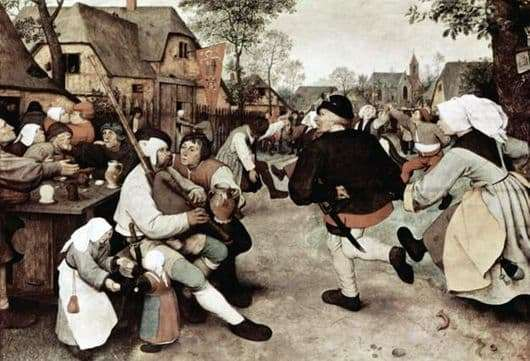 Description of the painting by Peter Bruegel Peasant Dance