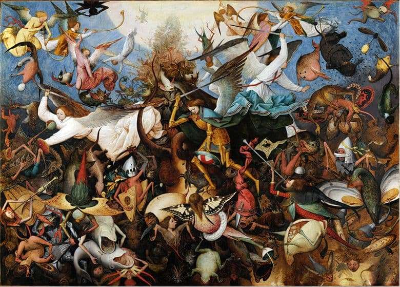 Description of the painting by Peter Bruegel the Elder The Fall of Rebel Angels