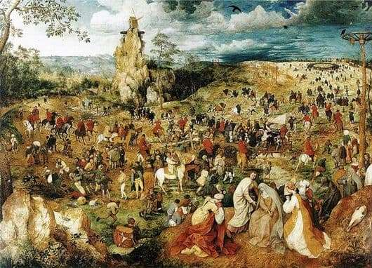 Description of the painting by Peter Bruegel Path to Calvary