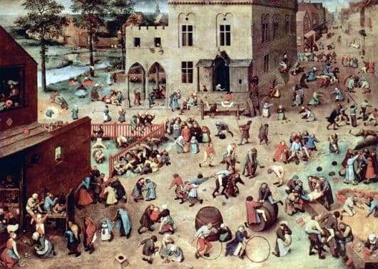 Description of the painting by Peter Bruegel Childrens Games