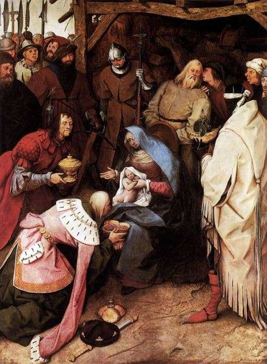 Description of the painting by Peter Bruegel Adoration of the Magi