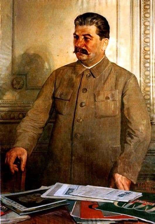 Description of the painting by Isaac Brodsky Stalin