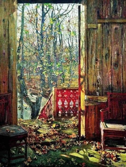 Description of the painting by Isaac Brodsky Fallen leaves