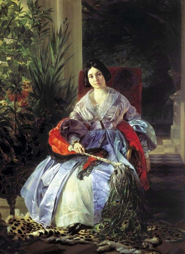 Description of the painting by Karl Bryullov Portrait of Princess Saltykova