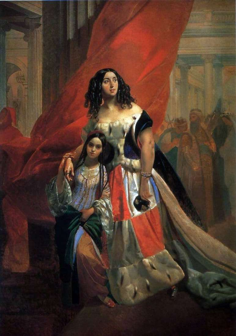 Description of the painting by Karl Bryullov Portrait of Countess Samoilova