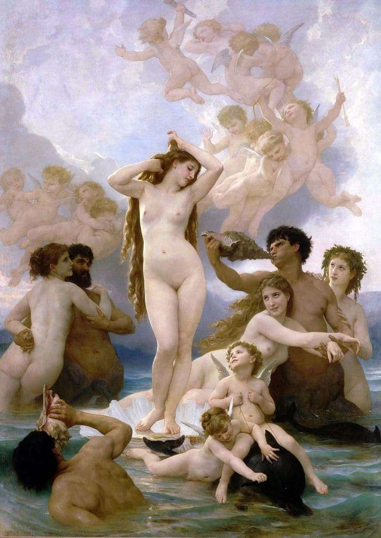 Description of the painting by William Bouguereau The Birth of Venus