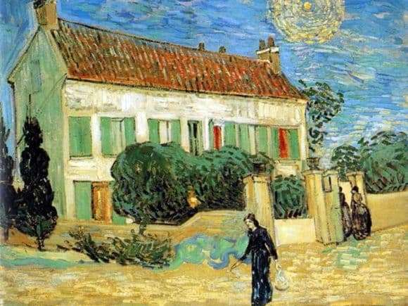 Description of the painting by Vincent Van Gogh White House at Night