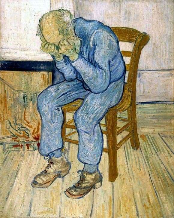 Description of the painting by Vincent Van Gogh On the threshold of eternity